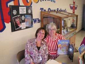 Librarian Carol Moore and me!
