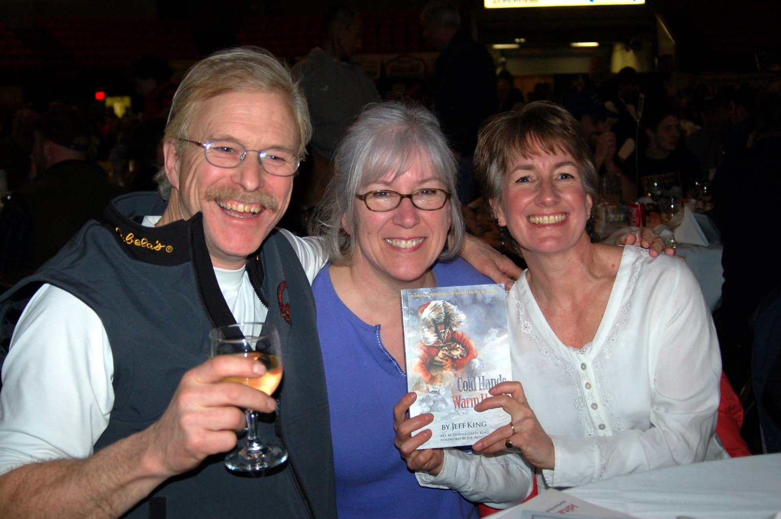 Jeff King and Donna Gates with their editor at the 2008 Musher's Banquet