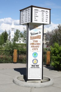 Milepost at Fairbanks